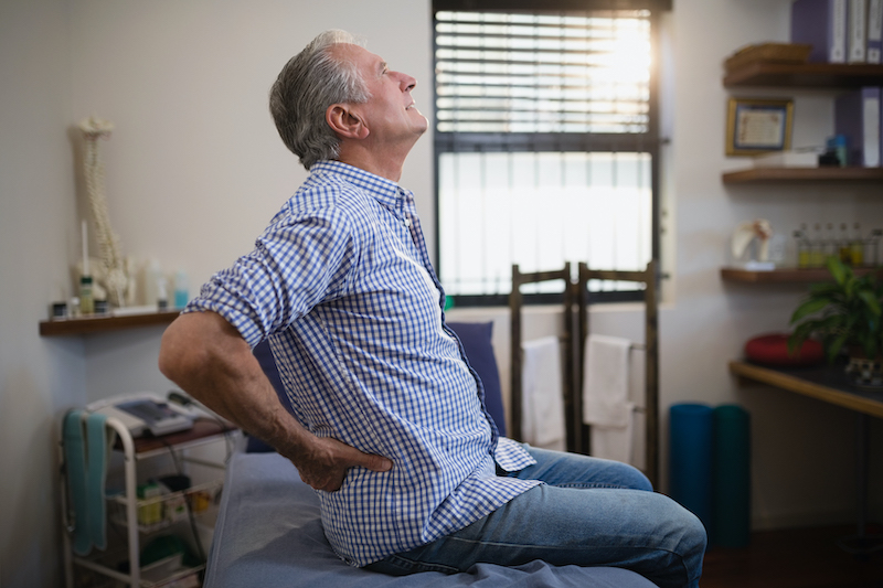 Elderly man Having hip pain